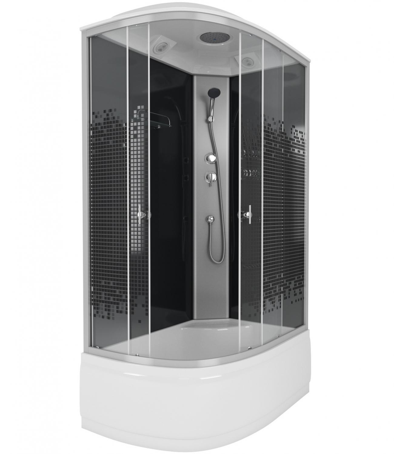 Душевая кабина Niagara Eco NG-7510-14R BLACK 120х80